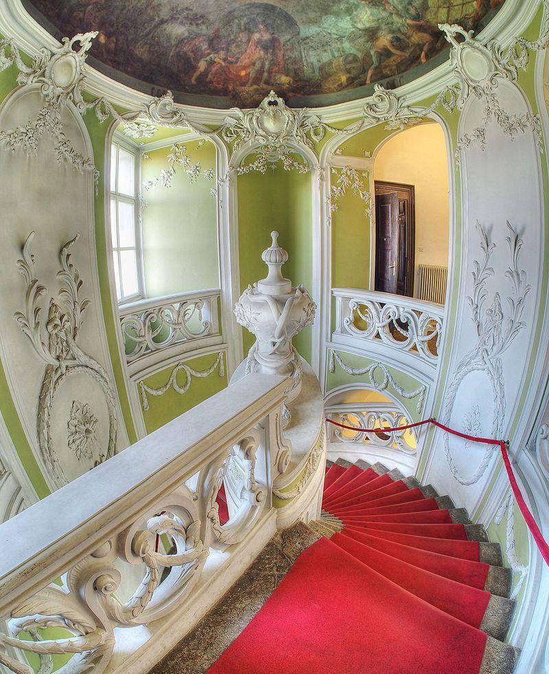 Rococo Staircase Gruber Mansion Slovenia Rococo Wikipedia Rococo Staircase Mansions