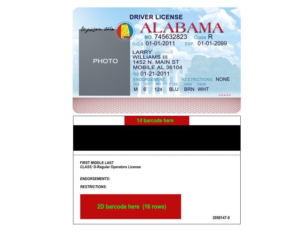 Alabama Driver License Psd Template Everythingallhere Store Drivers License Id Card Template Psd Templates