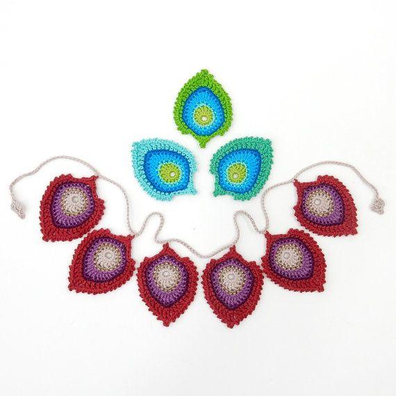 Crochet PATTERN Peacock Feather \