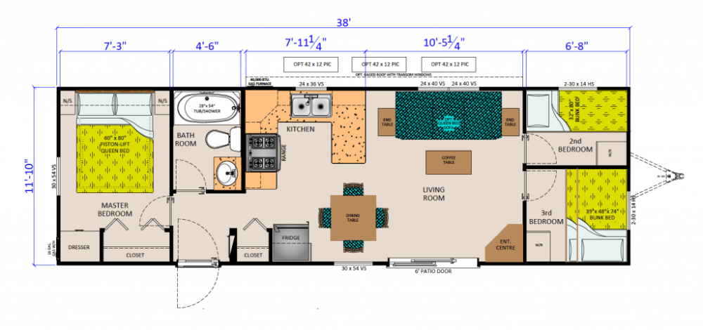 Park Model Floor Plan 12 X 26 Yahoo Image Search Results In 2020 Floor Plans Park Models Garage Apartments