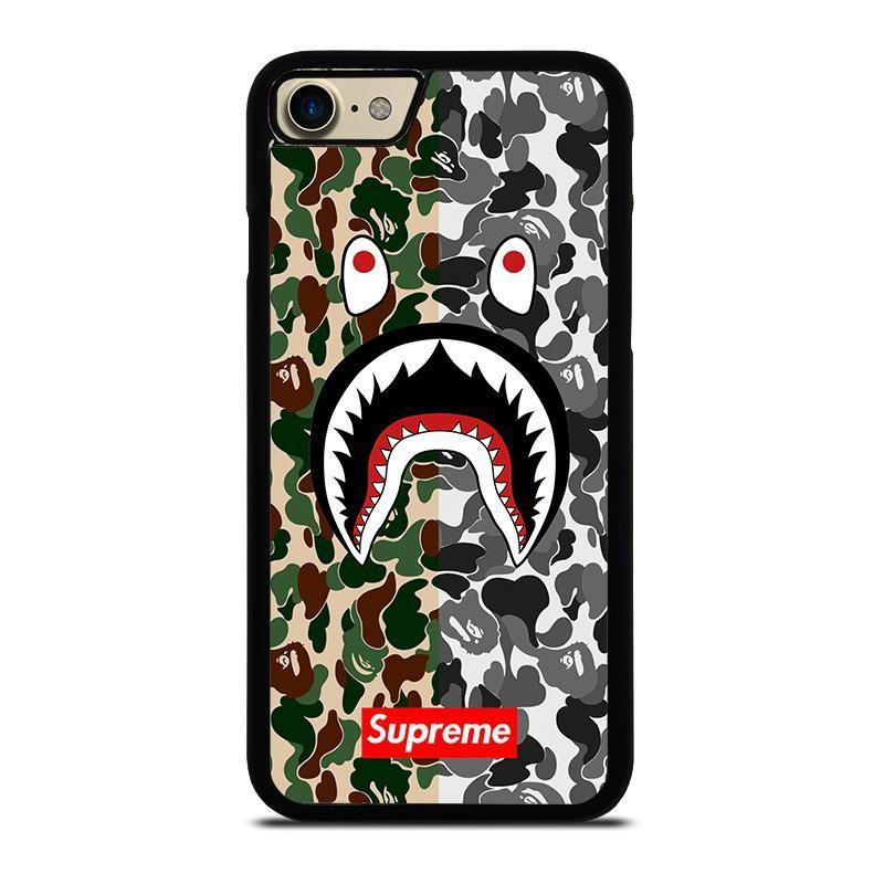 Bape shark supreme camo 2 iphone 7 case best custom