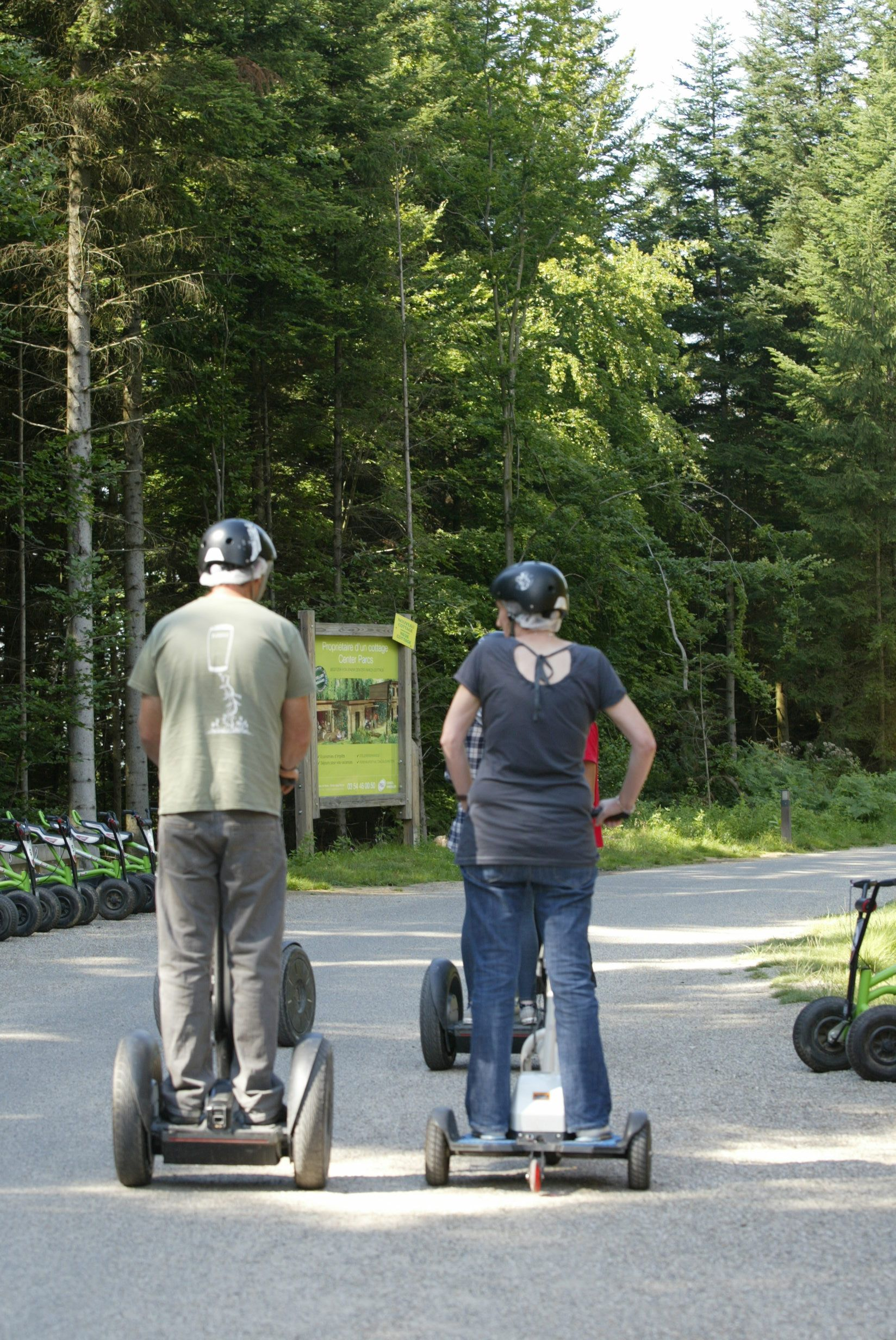 Riding segway in the forest at Center Parcs #Moselle #Lorraine - #enjoymoselle More to discover on http://www.moselle-tourism.com/en/things-to-do/walking-and-outdoor-activities.html