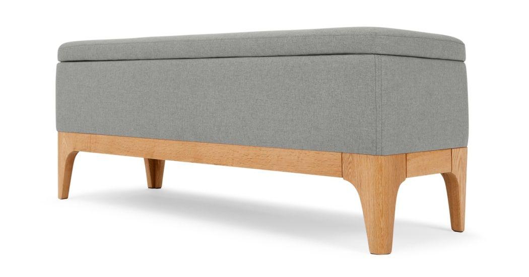 Made Cool Grey Storage Bench Storage Ottoman Bench Grey Storage Bench Window Seat Storage Bench