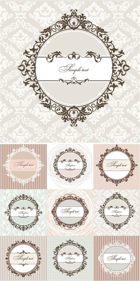 Free Vector Clip Art Collections Floral Round Vintage Frames Vector Vector Graphics Blog Vintage Frames Vector Vintage Frames Vintage Labels