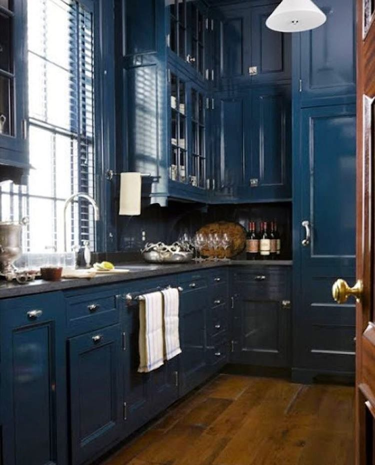 navyblue #obsession #kitchen #interiordesign | For the Home | Pinterest