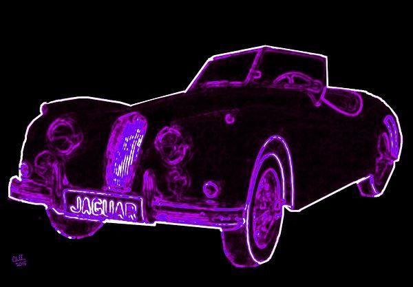 Neon 1957 Jaguar Xk140 By Cliff Wilson