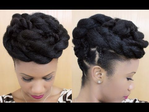 Twisted Goddess Updo On Natural Hair Kyssmyhair Youtube Casual Hair Updos Hair Styles Diy Hairstyles