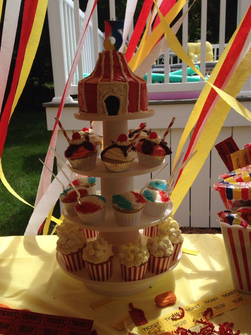 Carnival cupcake stand carnival cupcakes cupcake stand