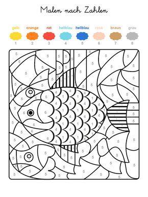Wenn Ihr Kind Das Ganze Motiv Auf Der Kostenlosen Malvorlage Mit Den Farben Ausgemalt Hat D Malen Nach Zahlen Kinder Malen Nach Zahlen Kostenlose Ausmalbilder