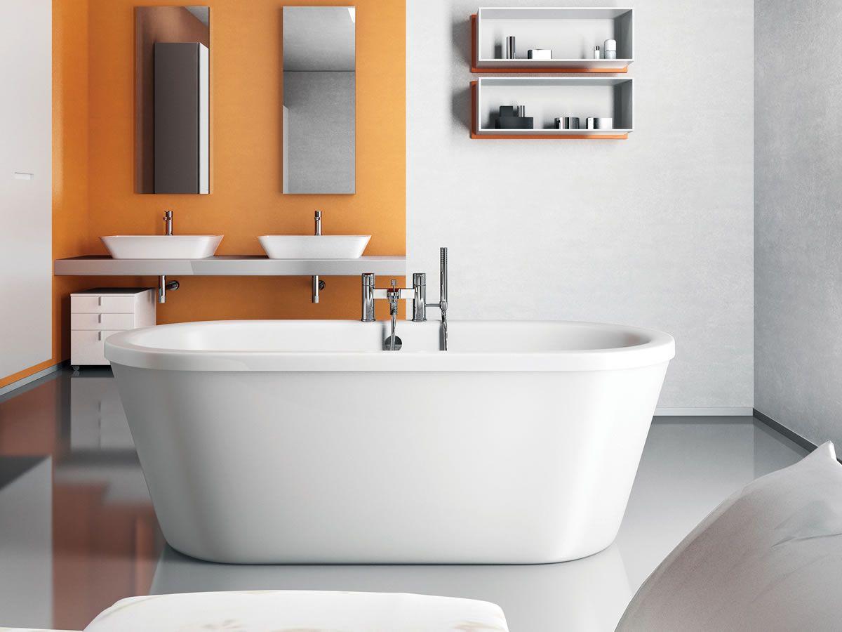 Pin von b dermax freistehende badewanne auf freistehende acryl badewannen pinterest - Badezimmer 50er ...