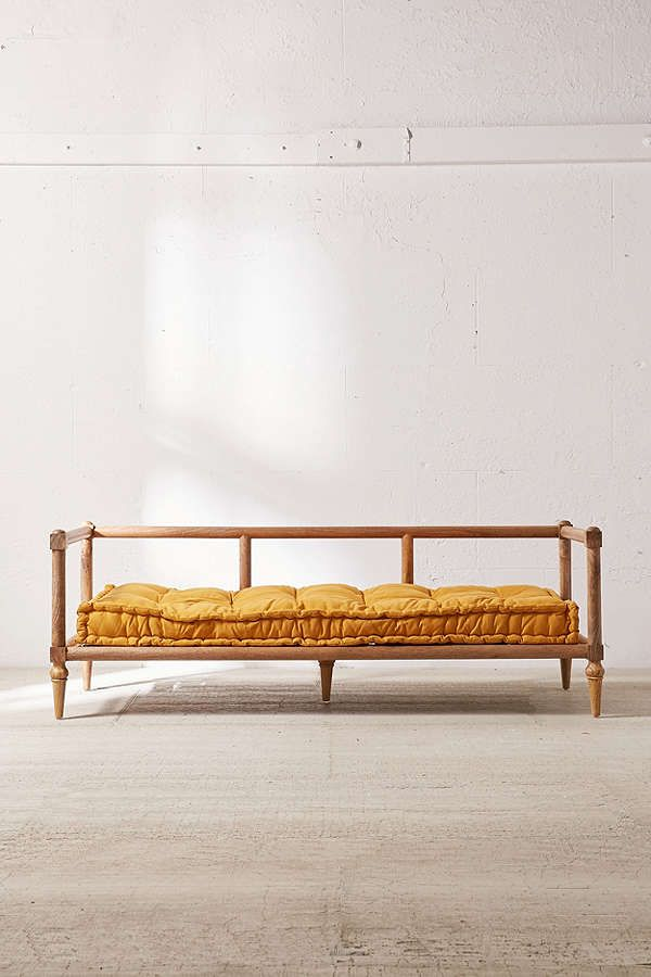 Indra Wooden Platform Daybed Platform Daybed Daybed Cushion Wood Daybed