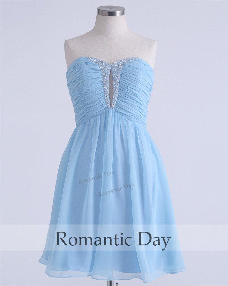 Sexy Sweetheart Beading Chiffon homecoming dress/Cocktail dresses/Bridesmaid dresses/short prom dress party/Custom Made 0319 by RomanticDay on Etsy https://www.etsy.com/listing/212664234/sexy-sweetheart-beading-chiffon