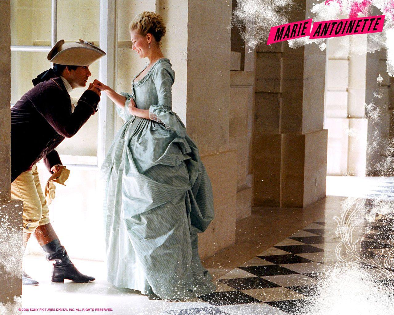 Baroque 18th century rococo fashion Marie Antoinette movie