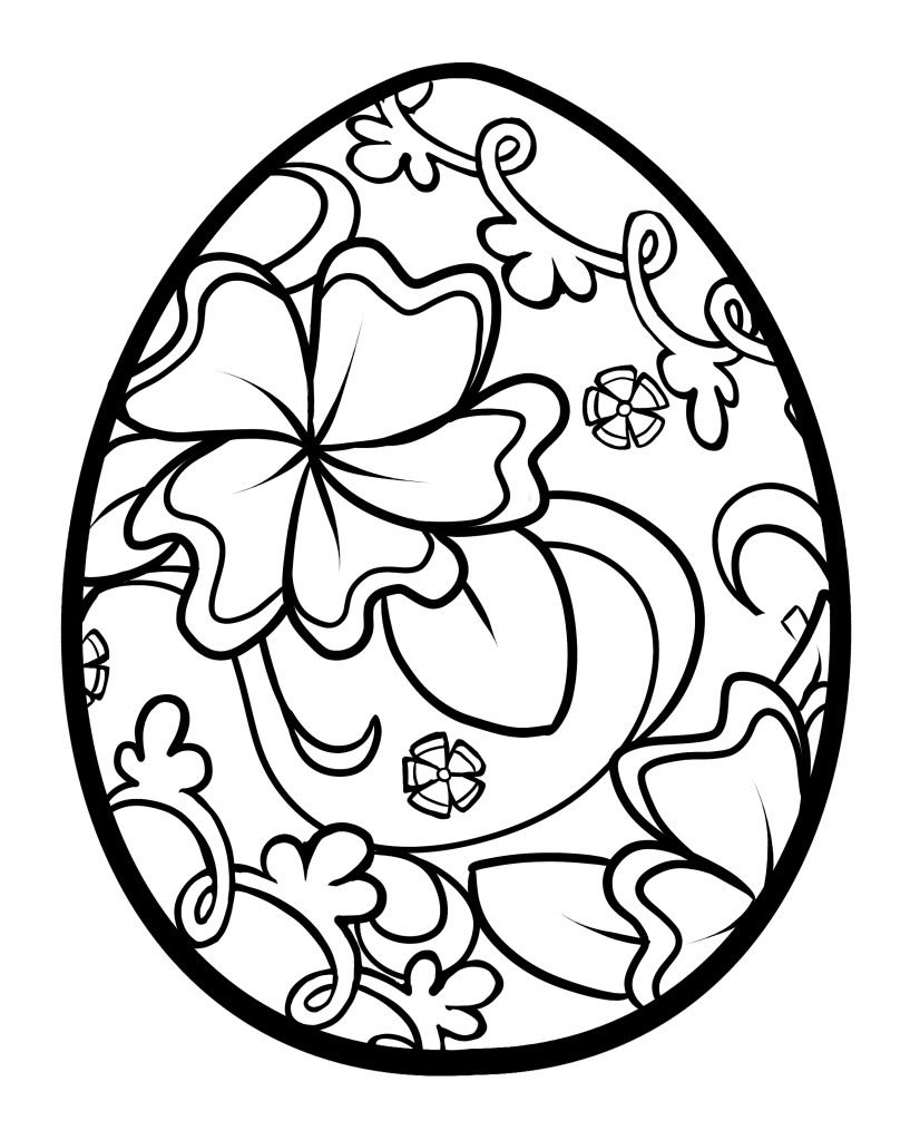 Easter Coloring Pages Easter Eggs Designs & Hunt 2016
