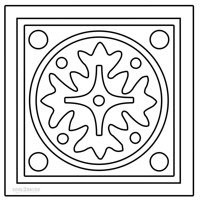 Rangoli Coloring Pages (With images) | Coloring pages ...