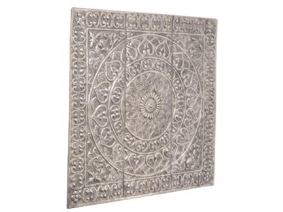 embossed metal wall art | embossed square metal wall plaque ...