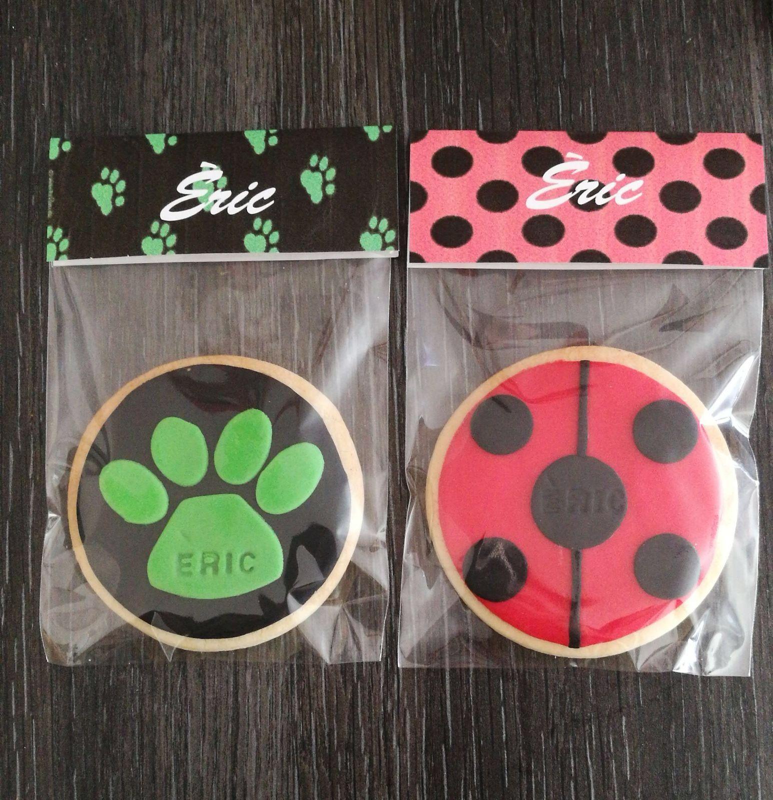 Ladybug And Cat Noir Cookies Ladybug Birthday Ladybug Birthday Party Miraculous Ladybug Party