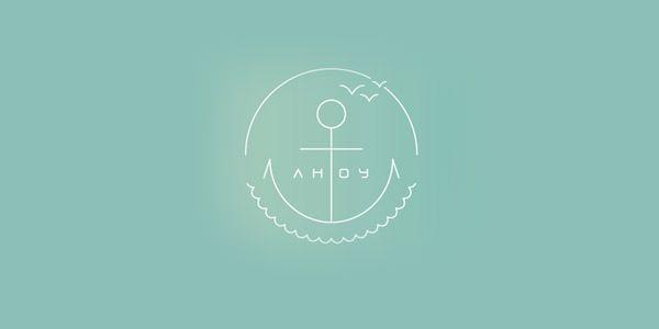 Ahoy - anchor logo
