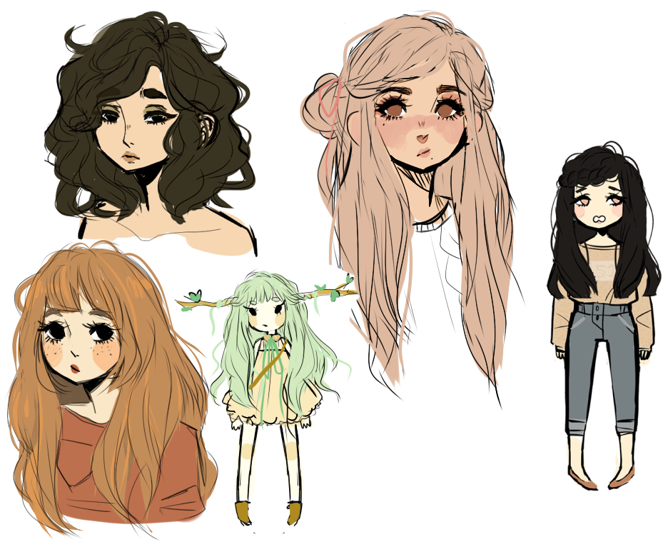 Картинки разных стилей рисования аниме