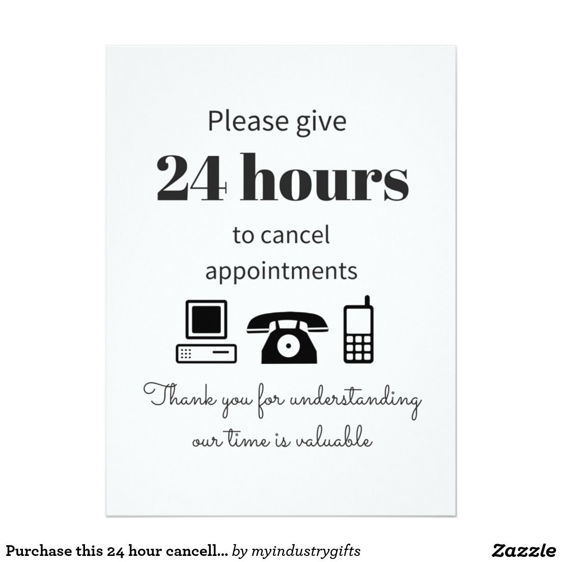 Purchase this 24 hour cancellation policy reduce no show for 24 hour beauty salon nyc