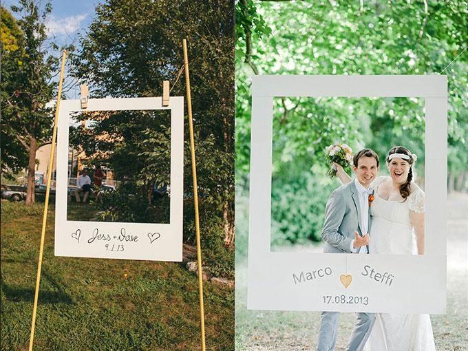 Marcos originales para que tus invitados se tomen fotos en - Marcos de fotos originales ...