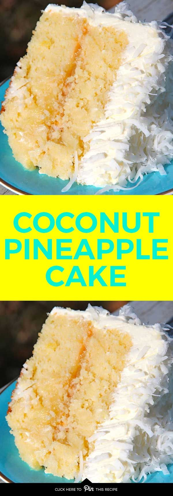 The coconut and pineapple make a perfect marriage in this cake recipe  is part of Desserts -