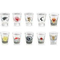 Game of Thrones House Sigil Shot Glasses [Set of 10]