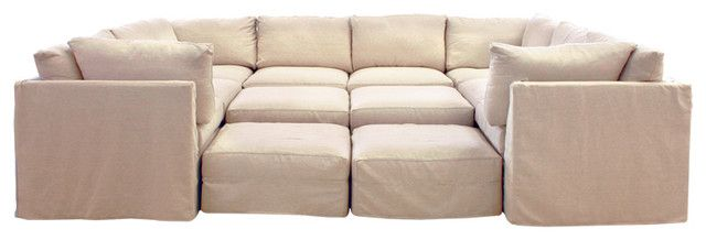 Pit Sectional Couches cobble hill union square sectional - contemporary - sectional