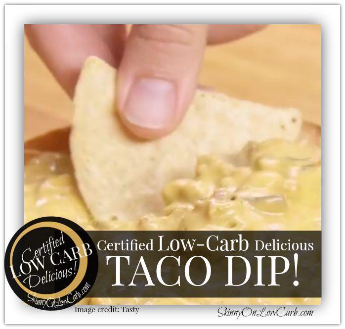 Low-Carb Taco Dip Recipe - SKINNY on LOW CARB #tacodip