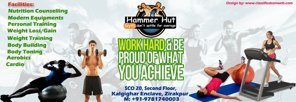 Hammer hut hym in ziakpur best gym service in india yoga