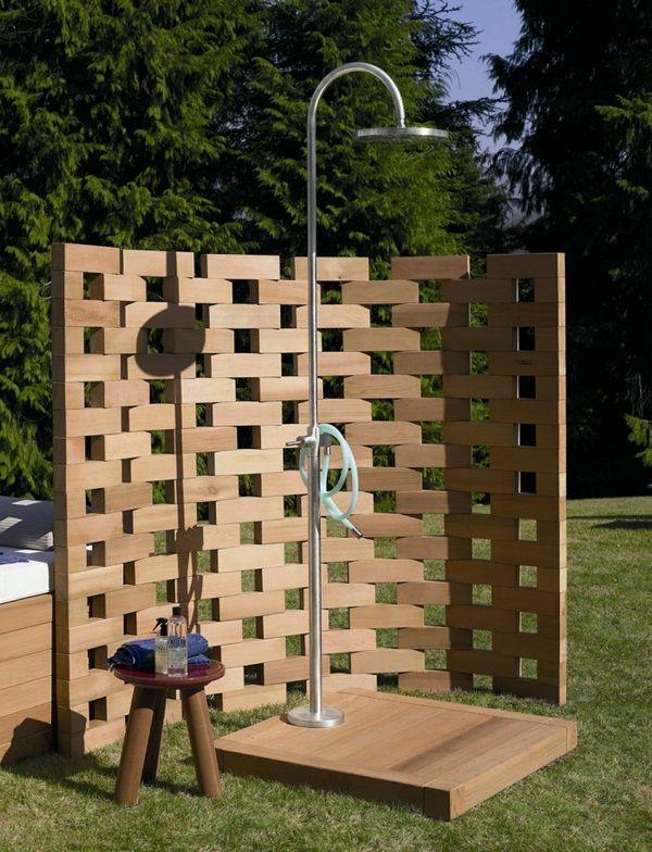 cabine de douche jardin
