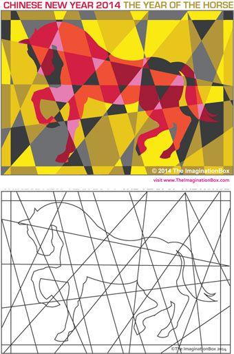 Cheval A Photocopier Et A Colorier Cheval Idees D Art Art