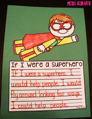 Writing Crafts that are NO PREP... seriously! #superherocrafts