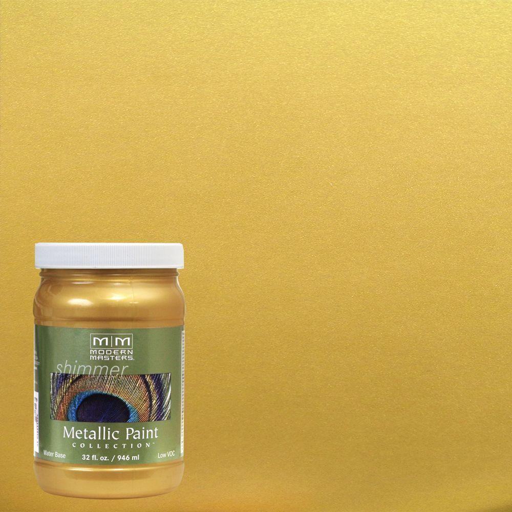 Modern Masters 1 Qt Rich Gold Water Based Satin Metallic