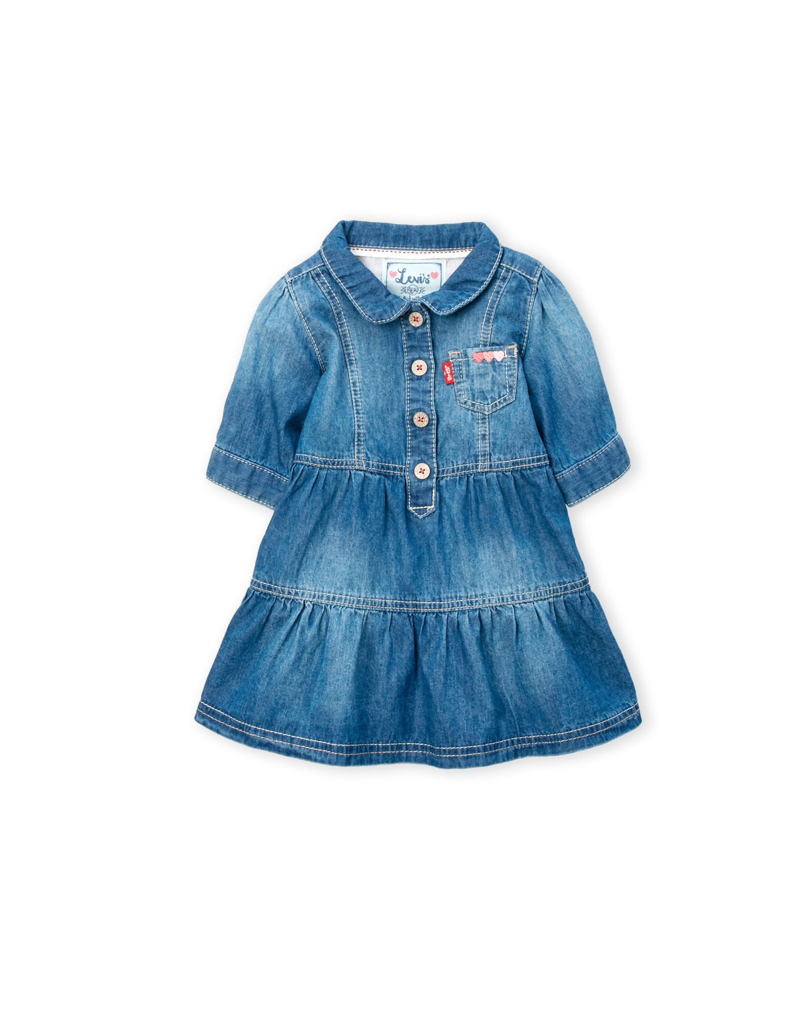 Levi's (Newborn/Infant Girls) Patch Pocket Denim Dress