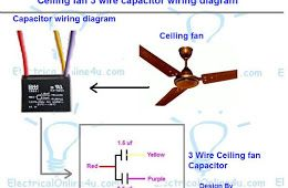 Ceiling fan 3 wire capacitor wiring diagram simbol pinterest ceiling fan 3 wire capacitor wiring diagram greentooth Images