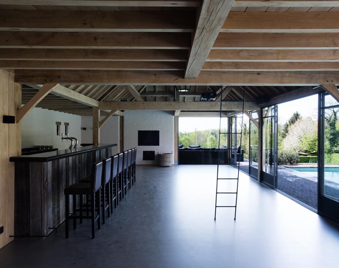 Houten poolhouse cottage stijl livinlodge tuinidee pinterest