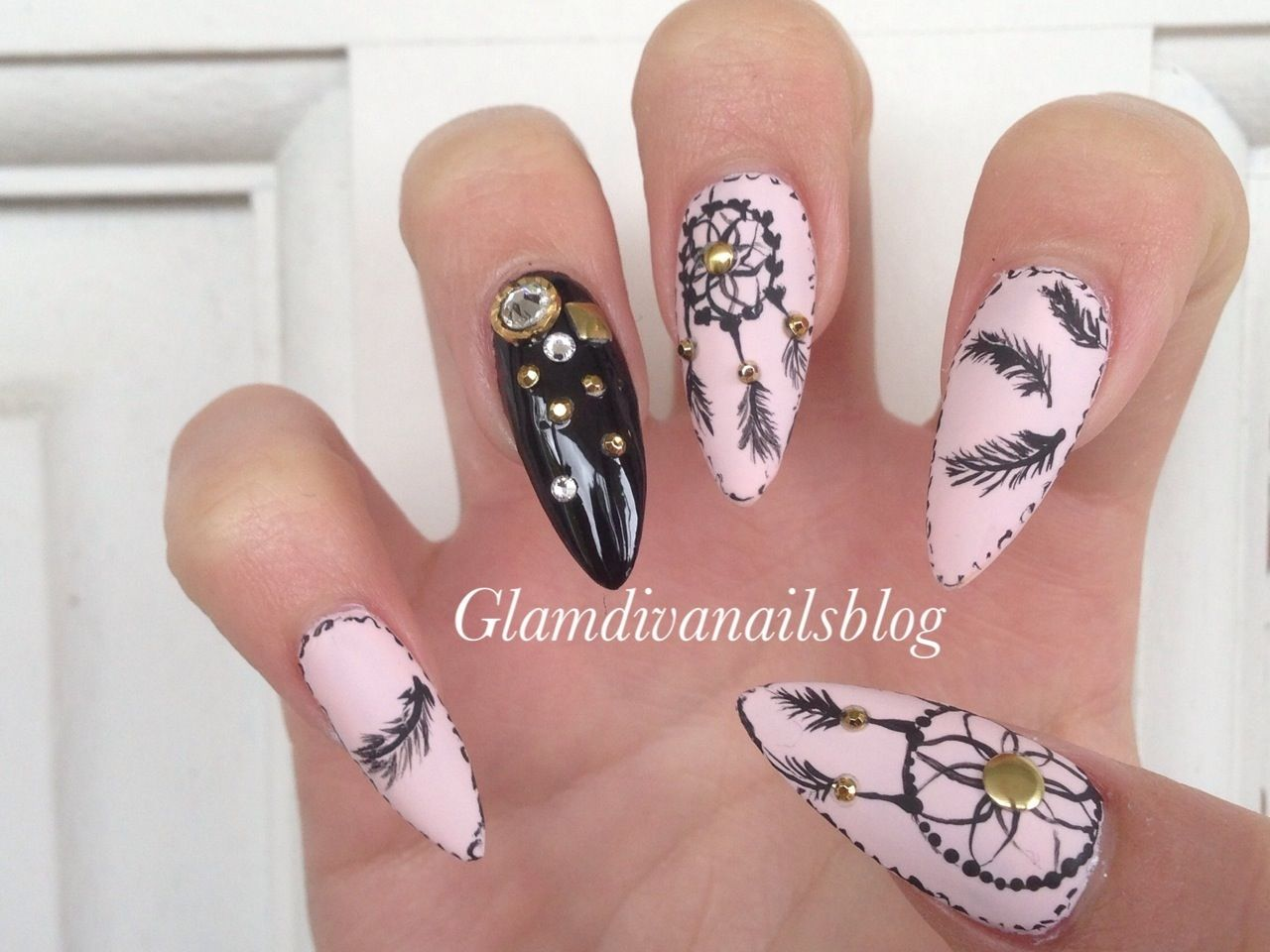 acrylic nails dream catcher - Google Search | Nail ideas | Pinterest ...