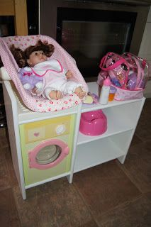 Baby doll Care Station... We have a small washer like this #dollcare