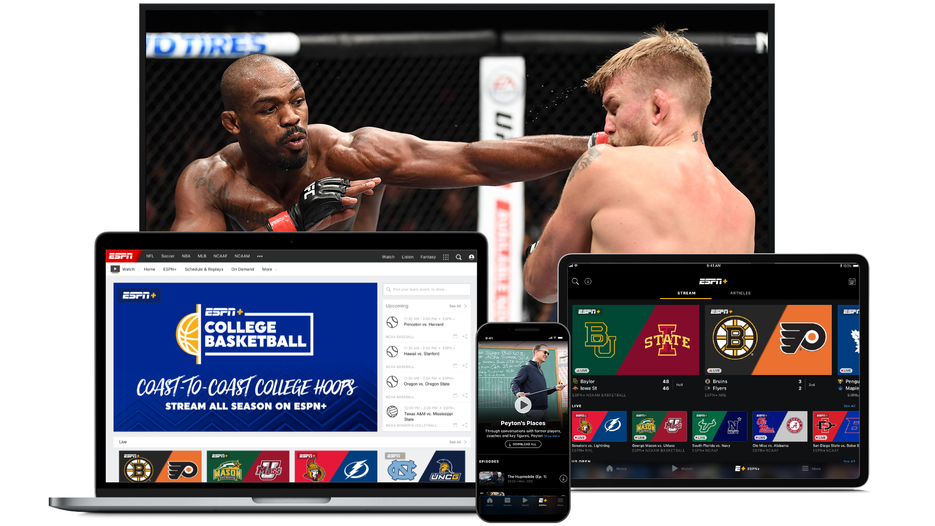 ESPN+ Stream Live Sports and Exclusive Originals (With
