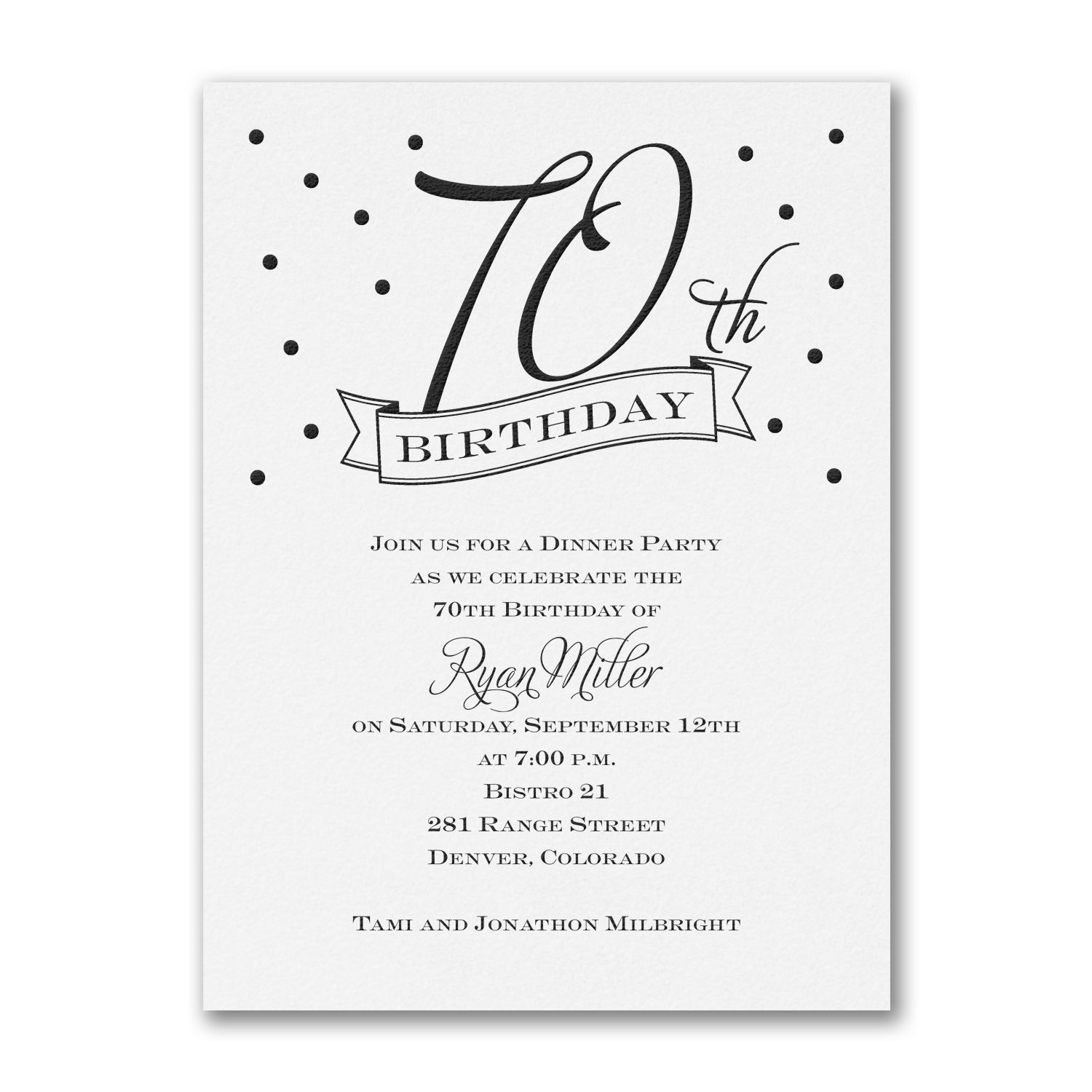 th Confetti Birthday Invitation lsoncraft