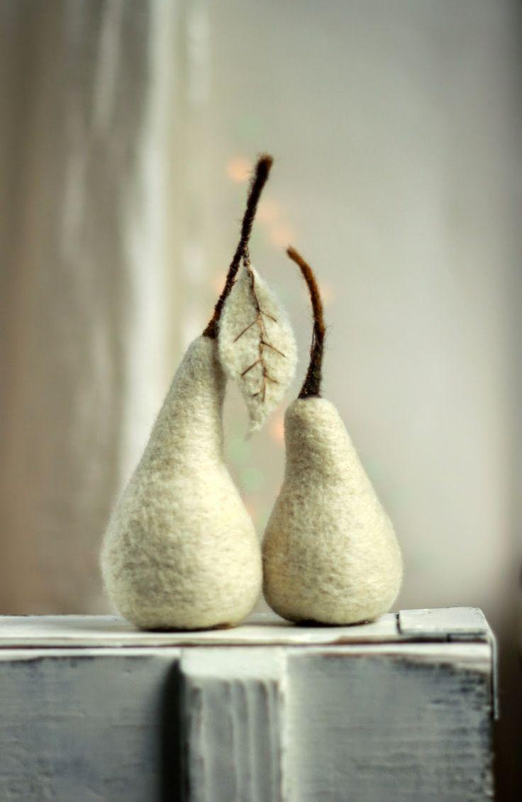 Felt Art By Mariana: Needle Felt Apples and Pears :)