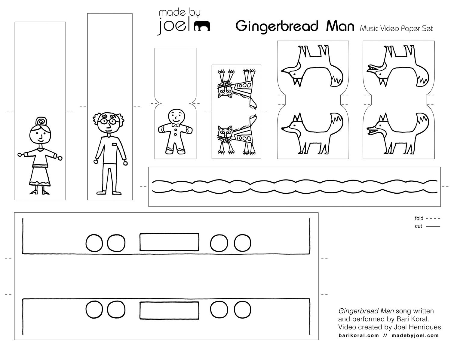 Made By Joel Gingerbread Music Video And Printable Paper