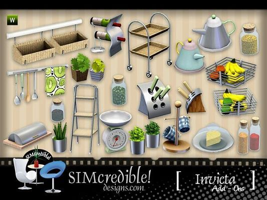 Sims 5 decor, decoration, objects, kitchen, clutter  Sims 5