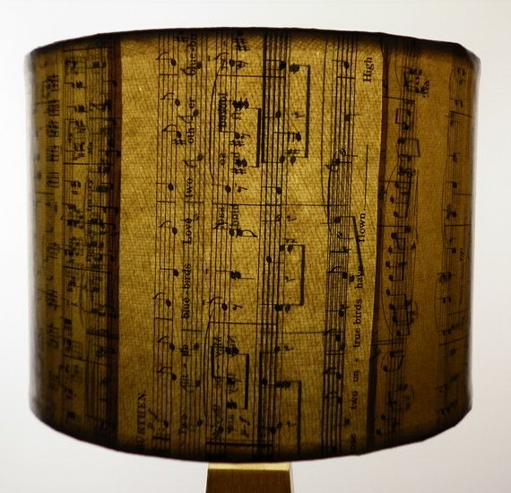 By order SONGBOOK SERIES Vintage Music sheet lamp by patturn