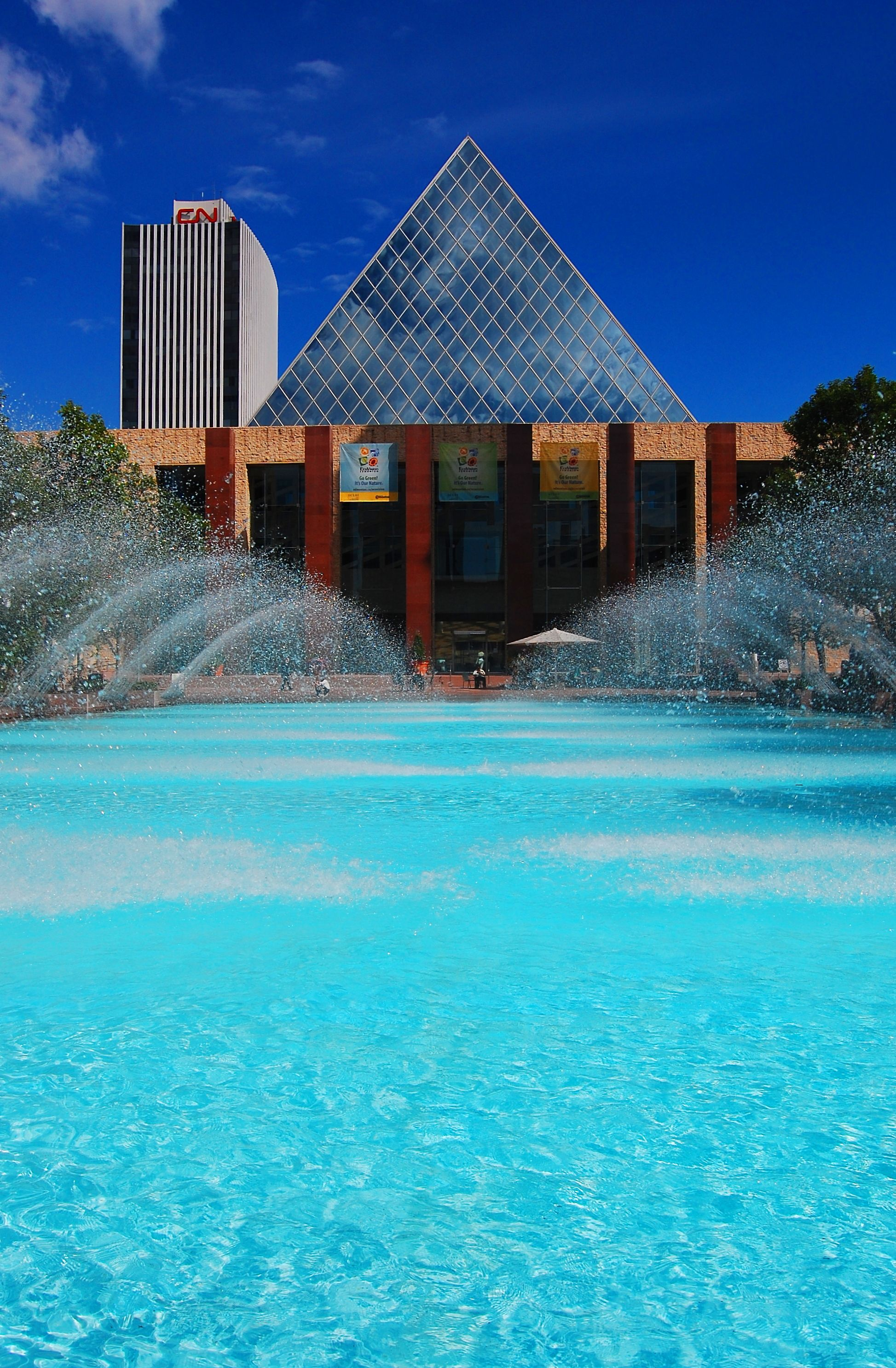 Edmonton: City Hall Fountains, Downtown Edmonton, Canada