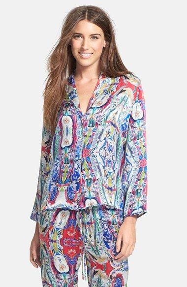 883e9eca7d Beautiful Bottoms London  Cosmic Carnival  Silk Pajama Top