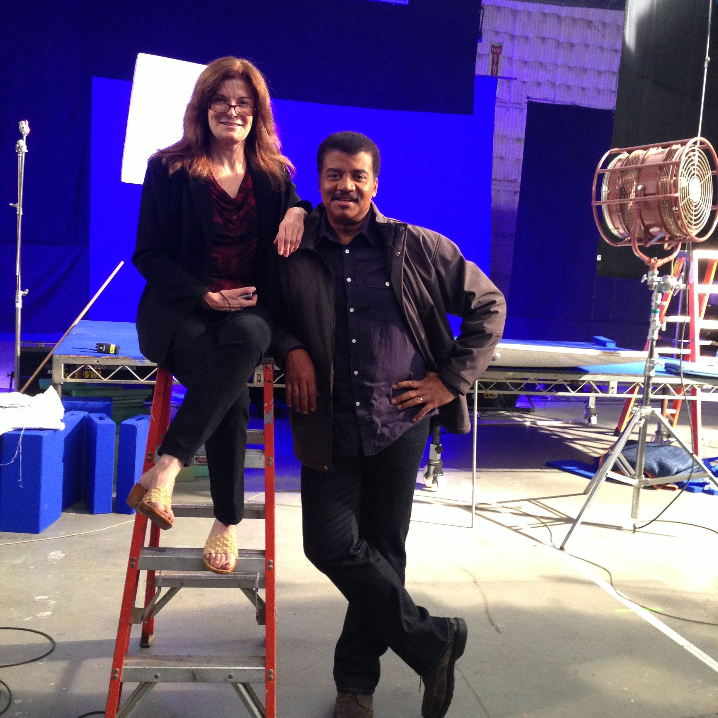 Carolyn Porco and Neil deGrasse Tyson. Credit: Ryan Hadaller