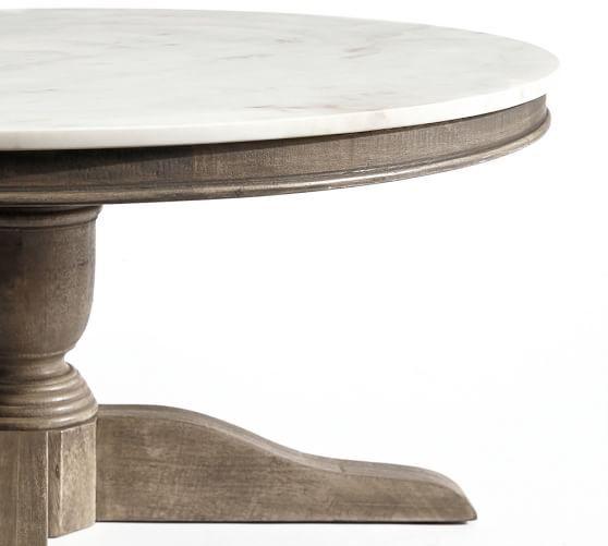 Alexandra Marble Round Coffee Table Pottery Barn