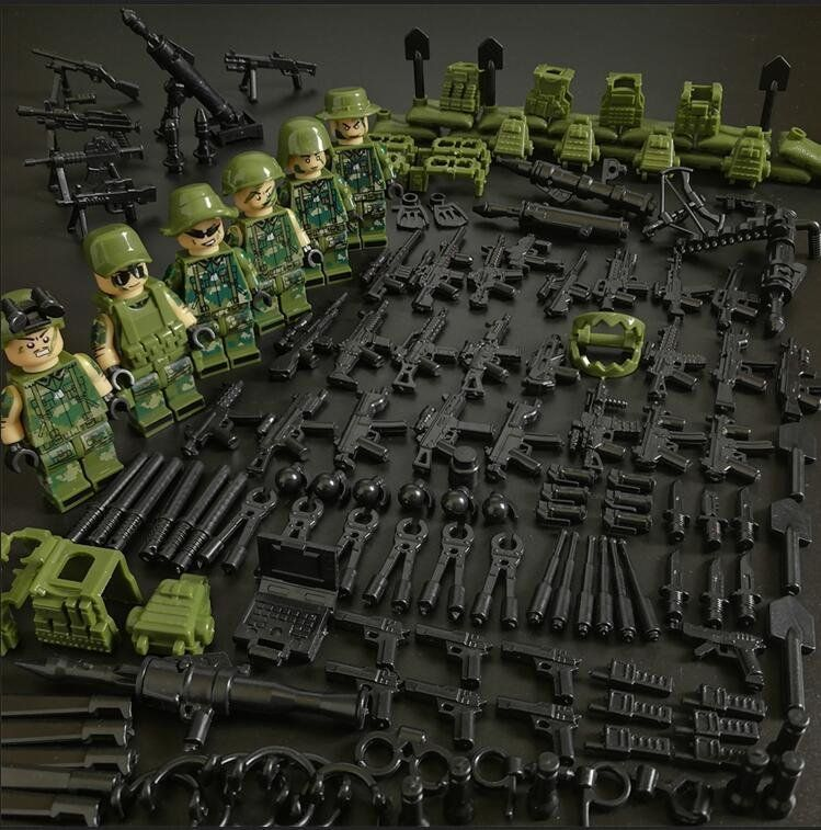 US SELLER*** 200 PCS Custom Weapons Accessories Gun Military for Minifigures Lot